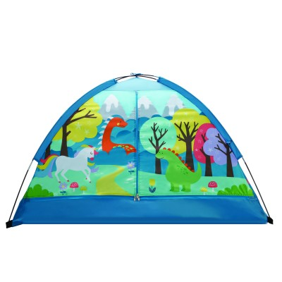 "Crckt Kids Indoor Camping Play Tent with Majestic Design Print 60""L x 36""W x 36""H NLAFWKV"